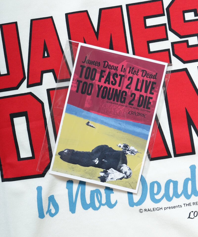 RALEIGH / ラリー(RED MOTEL / レッドモーテル)  JAMES DEAN IS NOT DEAD (邦題: このままじゃ終われない) MOVIE T-SHIRTS (WHITE)商品画像4