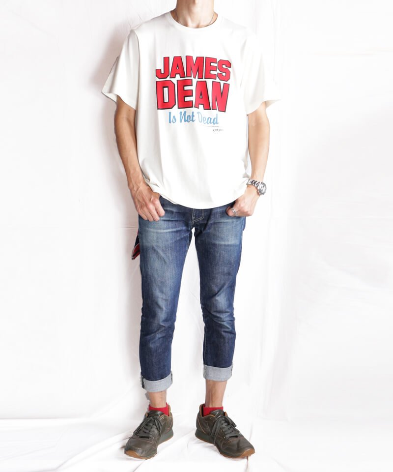 RALEIGH / ラリー(RED MOTEL / レッドモーテル)  JAMES DEAN IS NOT DEAD (邦題: このままじゃ終われない) MOVIE T-SHIRTS (WHITE)商品画像8