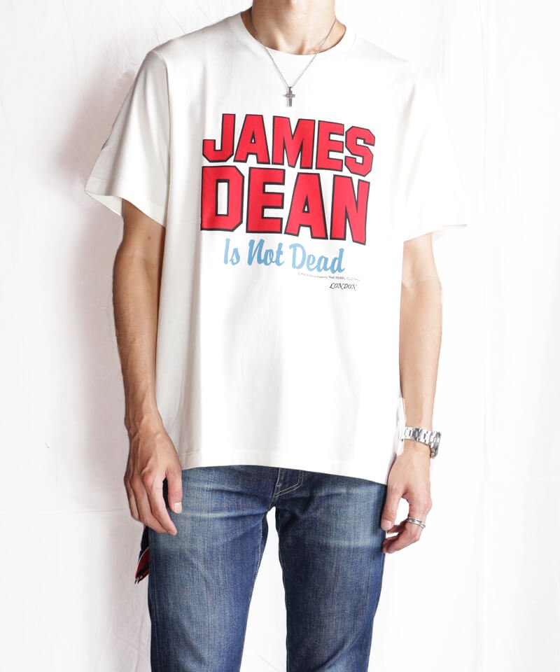 RALEIGH / ラリー(RED MOTEL / レッドモーテル)  JAMES DEAN IS NOT DEAD (邦題: このままじゃ終われない) MOVIE T-SHIRTS (WHITE)商品画像9