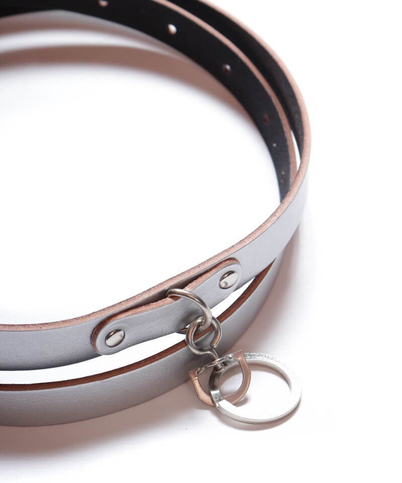 """RALEIGH / ラリー(RED MOTEL / レッドモーテル)  """"HANGING DOWN"""" LEATHER NARROW BELT (SPACE COWBOY MODEL / SILVER)商品画像2"""