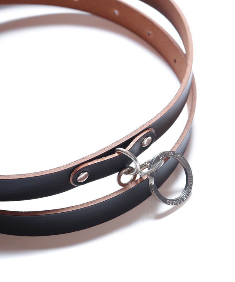 """RALEIGH / ラリー(RED MOTEL / レッドモーテル)  """"HANGING DOWN"""" LEATHER NARROW BELT (SPACE COWBOY MODEL / BLACK)商品画像2"""