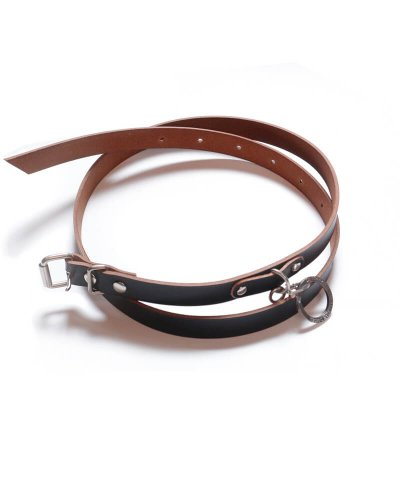 """RALEIGH / ラリー(RED MOTEL / レッドモーテル) / """"HANGING DOWN"""" LEATHER NARROW BELT (SPACE COWBOY MODEL / BLACK)"""
