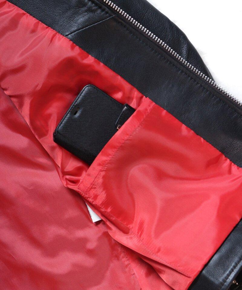 "RALEIGH / ラリー(RED MOTEL / レッドモーテル) |""44口径"" SINGLE LEATHER JACKET (2021 Ver. / BLACK)商品画像11"