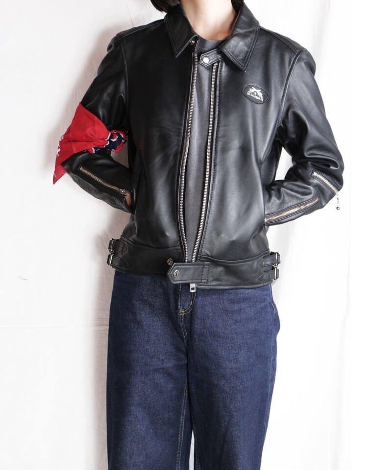 "RALEIGH / ラリー(RED MOTEL / レッドモーテル) |""44口径"" SINGLE LEATHER JACKET (2021 Ver. / BLACK)商品画像27"