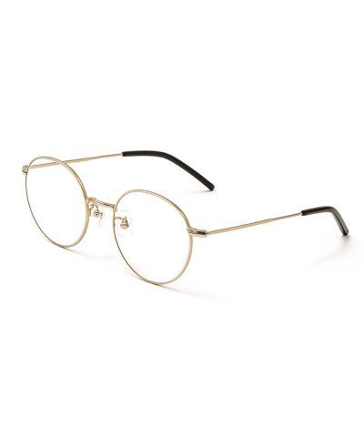 NIL DUE / NIL UN TOKYO / ニル デュエ / ニル アン トーキョー / METAL ROUND FRAME GLASSES (GOLD FRAME×CLEAR)