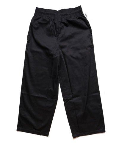 COOKMAN / クックマン /  WIDE CHEF PANTS (BLACK):ワイドシェフパンツ