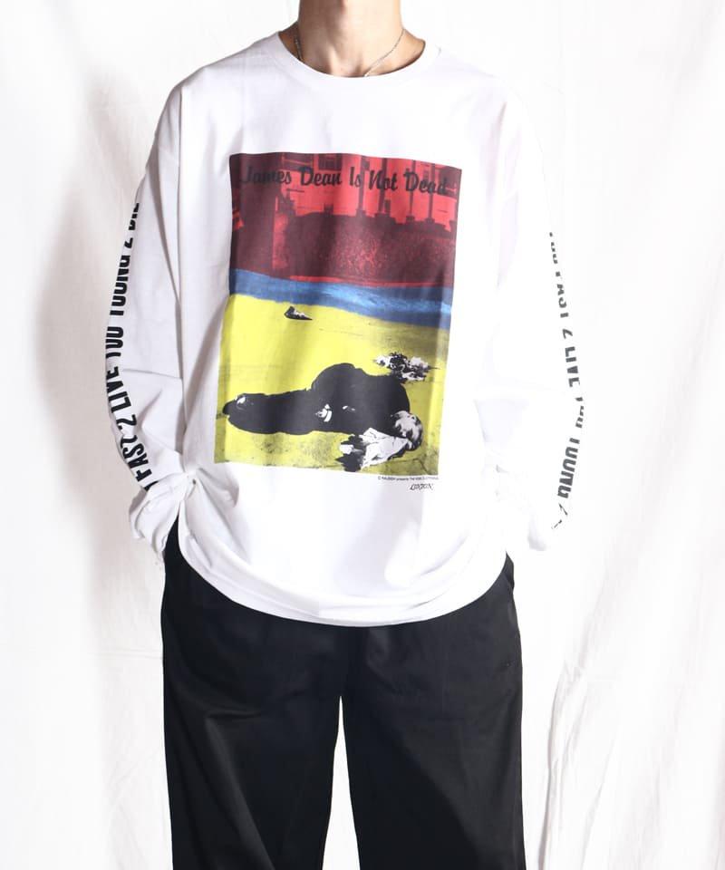 "RALEIGH / ラリー(RED MOTEL / レッドモーテル) |JAMES DEAN IS NOT DEAD ""永遠に生きるつもりで夢を抱き、今日死ぬつもりで今を駆け抜けろ"" L/S T-SHIRTS (LDN1991/WH)商品画像11"
