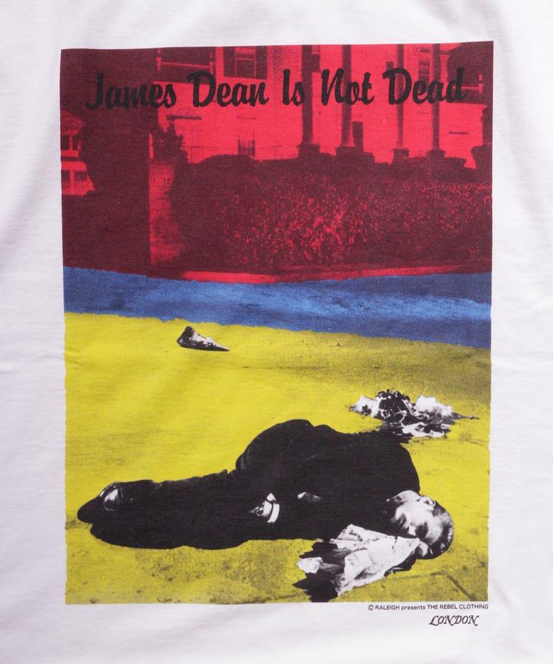 "RALEIGH / ラリー(RED MOTEL / レッドモーテル) |JAMES DEAN IS NOT DEAD ""永遠に生きるつもりで夢を抱き、今日死ぬつもりで今を駆け抜けろ"" L/S T-SHIRTS (LDN1991/WH)商品画像3"