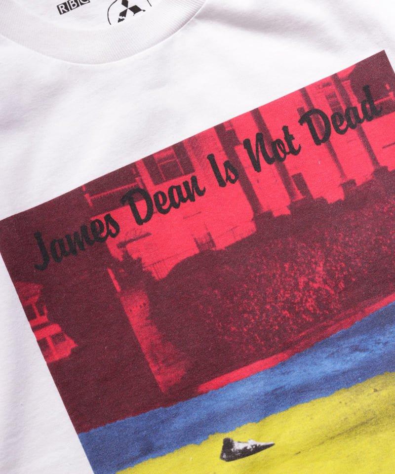 "RALEIGH / ラリー(RED MOTEL / レッドモーテル) |JAMES DEAN IS NOT DEAD ""永遠に生きるつもりで夢を抱き、今日死ぬつもりで今を駆け抜けろ"" L/S T-SHIRTS (LDN1991/WH)商品画像4"
