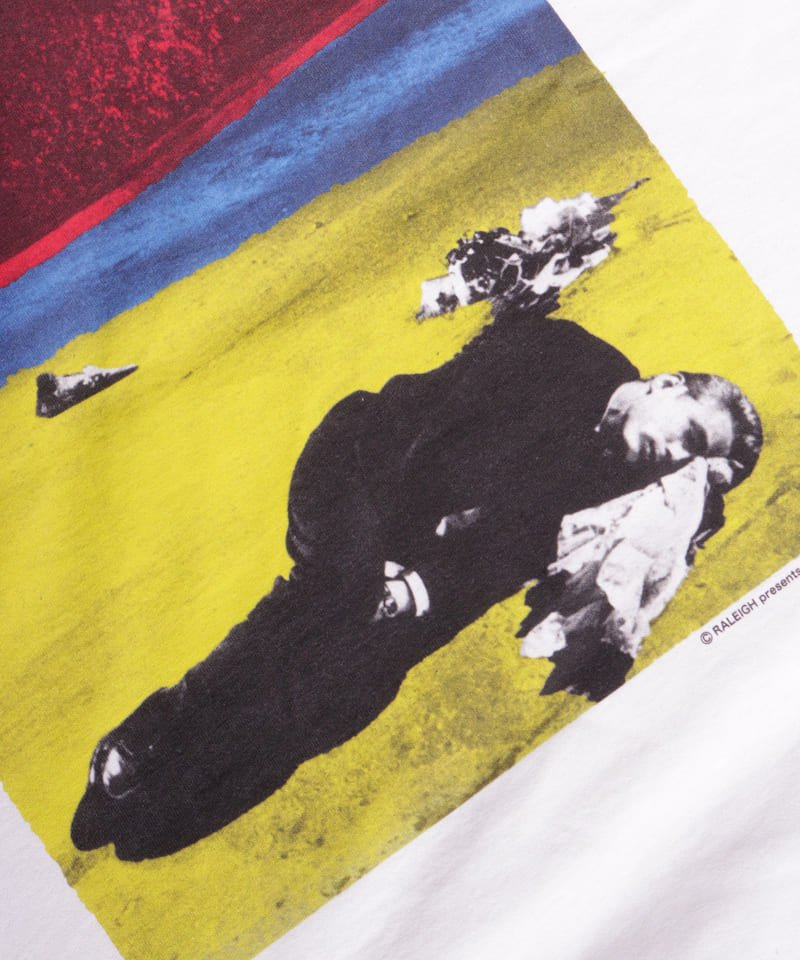 "RALEIGH / ラリー(RED MOTEL / レッドモーテル) |JAMES DEAN IS NOT DEAD ""永遠に生きるつもりで夢を抱き、今日死ぬつもりで今を駆け抜けろ"" L/S T-SHIRTS (LDN1991/WH)商品画像5"