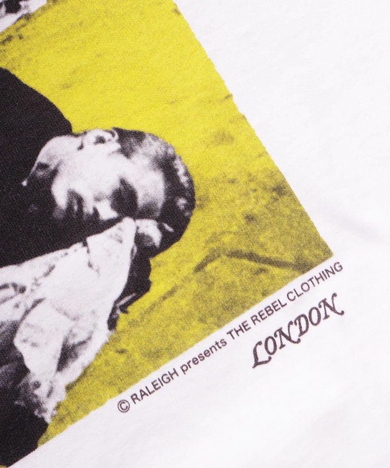 "RALEIGH / ラリー(RED MOTEL / レッドモーテル) |JAMES DEAN IS NOT DEAD ""永遠に生きるつもりで夢を抱き、今日死ぬつもりで今を駆け抜けろ"" L/S T-SHIRTS (LDN1991/WH)商品画像6"