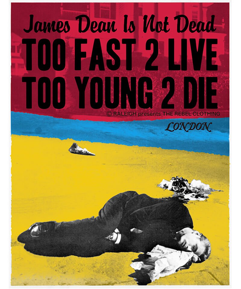 "RALEIGH / ラリー(RED MOTEL / レッドモーテル) |JAMES DEAN IS NOT DEAD ""永遠に生きるつもりで夢を抱き、今日死ぬつもりで今を駆け抜けろ"" L/S T-SHIRTS (LDN1991/WH)商品画像9"