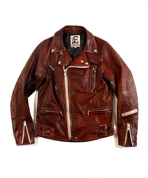 """RALEIGH / ラリー(RED MOTEL / レッドモーテル)   RALEIGH STANDARDS BLACK EYED LEATHER JACKET """"PROVEN別注Ver."""" 商品画像"""