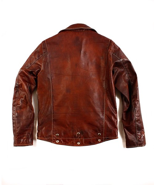 """RALEIGH / ラリー(RED MOTEL / レッドモーテル)  RALEIGH STANDARDS BLACK EYED LEATHER JACKET """"PROVEN別注Ver."""" 商品画像1"""