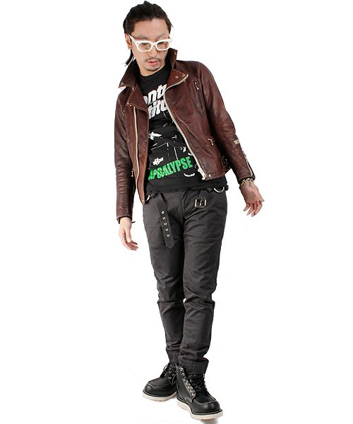 """RALEIGH / ラリー(RED MOTEL / レッドモーテル)  RALEIGH STANDARDS BLACK EYED LEATHER JACKET """"PROVEN別注Ver."""" 商品画像2"""