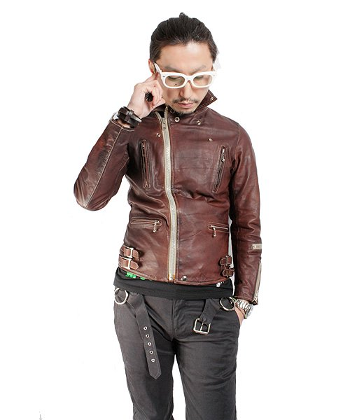 """RALEIGH / ラリー(RED MOTEL / レッドモーテル)  RALEIGH STANDARDS BLACK EYED LEATHER JACKET """"PROVEN別注Ver."""" 商品画像3"""