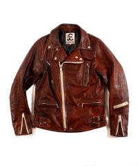 """RALEIGH / ラリー(RED MOTEL / レッドモーテル) / RALEIGH STANDARDS BLACK EYED LEATHER JACKET """"PROVEN別注Ver."""""""