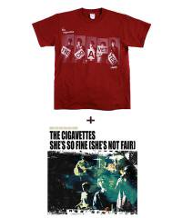 "THE CIGAVETTES×SIDEMILITIA inc. <br>【 ""SHE'S SO FINE(SHE'S NOT FAIR)"" CD+T-shirt SET 】"