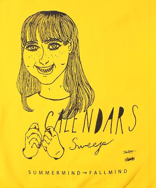"Official Artist Goods / バンドTなど |CALENDARS × SIDEMILITIAinc. / カレンダーズ × サイドミリティア:""Sweep"" SWEAT SHIRT (YELLOW) 商品画像1"
