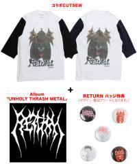 """Official Artist Goods / バンドTなど / RETURN×SIDEMILITIAinc.  """"Unholy Thrash Metal"""" SET"""