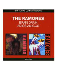 THE RAMONES<br>【 BRAIN DRAIN & ADIOS AMIGOS (2枚組輸入盤)  】