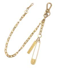 RALEIGH(2色展開)<br>【 HANGING DOWN WALLET CHAIN with SAFETY PIN JUBILEE KEY CHAIN  】