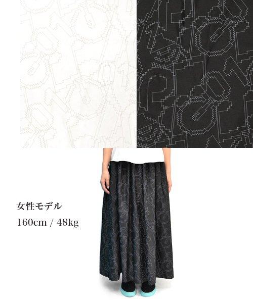 PIIT / ピット |初音ミク × PIIT / PT-CFHM1404:ドットアイコン柄マキシスカート 商品画像3