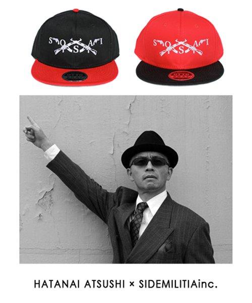 Official Artist Goods / バンドTなど   HATANAI ATSUSHI×SIDEMILITIA inc.(2色展開)  LIMITED SOSAI CAP 商品画像