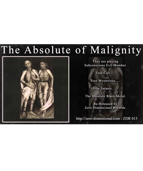 CD / DVD |THE ABSOLUTE OF MALIGNITY:S.T. (日本盤CD) 商品画像1