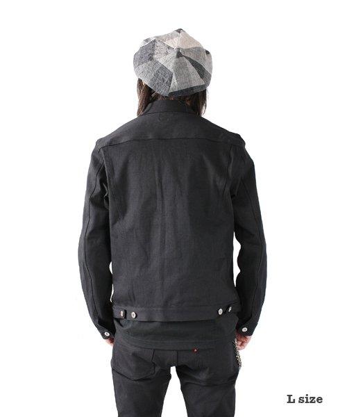 """RALEIGH / ラリー(RED MOTEL / レッドモーテル)  RALEIGH × SIDEMILITIA / ラリー × サイドミリティア  RALEIGH jean """"激情のブラックスレンダー"""" DENIM JACKET (FLESH) 商品画像12"""