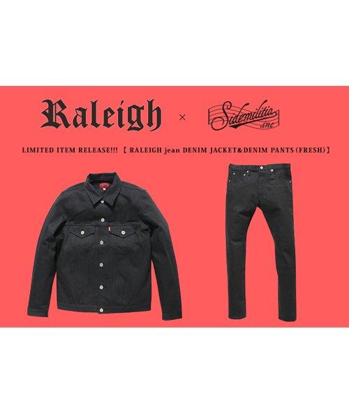 """RALEIGH / ラリー(RED MOTEL / レッドモーテル)  RALEIGH × SIDEMILITIA / ラリー × サイドミリティア  RALEIGH jean """"激情のブラックスレンダー"""" DENIM JACKET (FLESH) 商品画像13"""