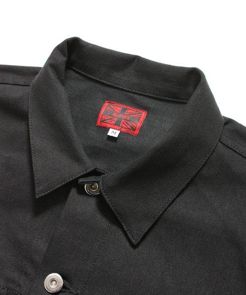 """RALEIGH / ラリー(RED MOTEL / レッドモーテル)  RALEIGH × SIDEMILITIA / ラリー × サイドミリティア  RALEIGH jean """"激情のブラックスレンダー"""" DENIM JACKET (FLESH) 商品画像4"""