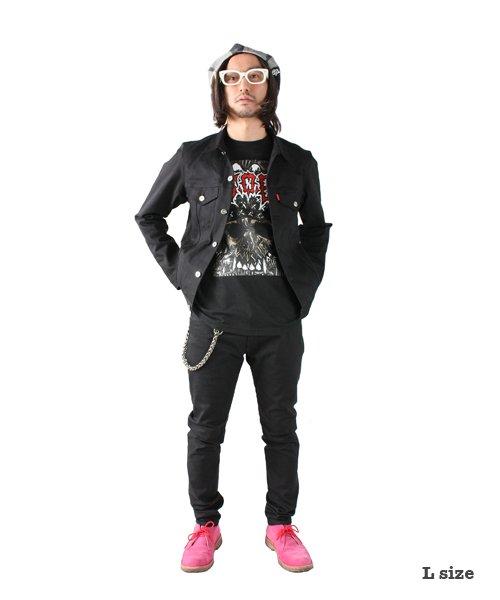 """RALEIGH / ラリー(RED MOTEL / レッドモーテル)  RALEIGH × SIDEMILITIA / ラリー × サイドミリティア  RALEIGH jean """"激情のブラックスレンダー"""" DENIM JACKET (FLESH) 商品画像9"""