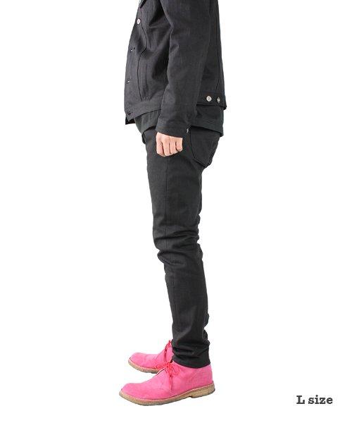 """RALEIGH / ラリー(RED MOTEL / レッドモーテル)  SIDEMILITIA× RALEIGH jeans """"激情のブラックスリム"""" DENIM PANTS(FLESH) 商品画像10"""