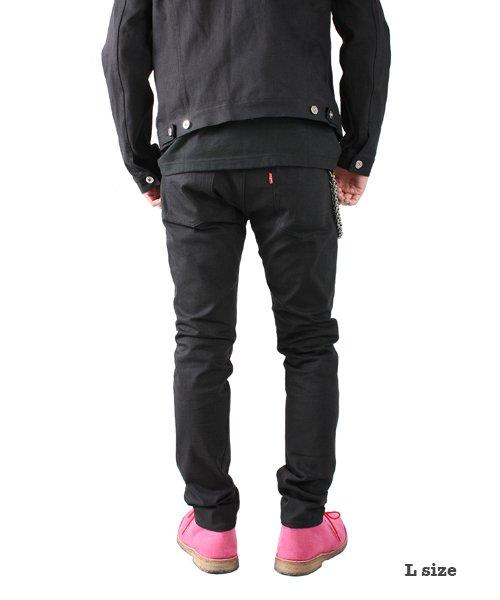 """RALEIGH / ラリー(RED MOTEL / レッドモーテル)  SIDEMILITIA× RALEIGH jeans """"激情のブラックスリム"""" DENIM PANTS(FLESH) 商品画像11"""