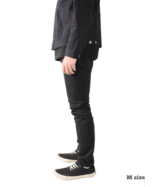 """RALEIGH / ラリー(RED MOTEL / レッドモーテル)  SIDEMILITIA× RALEIGH jeans """"激情のブラックスリム"""" DENIM PANTS(FLESH) 商品画像15"""