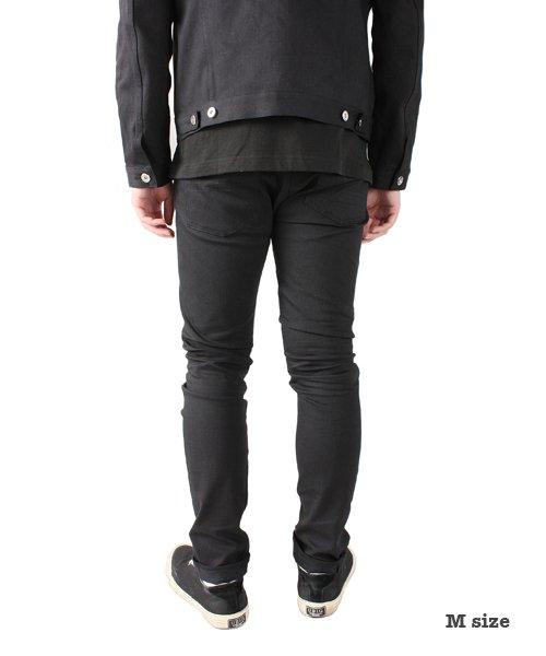 """RALEIGH / ラリー(RED MOTEL / レッドモーテル)  SIDEMILITIA× RALEIGH jeans """"激情のブラックスリム"""" DENIM PANTS(FLESH) 商品画像16"""