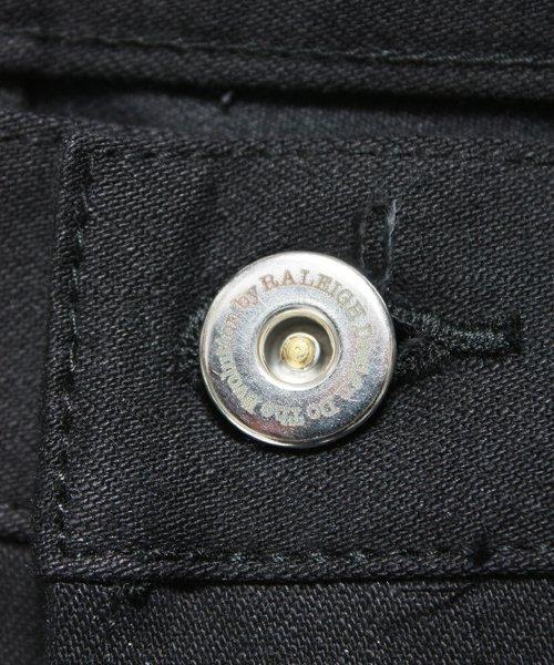 """RALEIGH / ラリー(RED MOTEL / レッドモーテル)  SIDEMILITIA× RALEIGH jeans """"激情のブラックスリム"""" DENIM PANTS(FLESH) 商品画像4"""