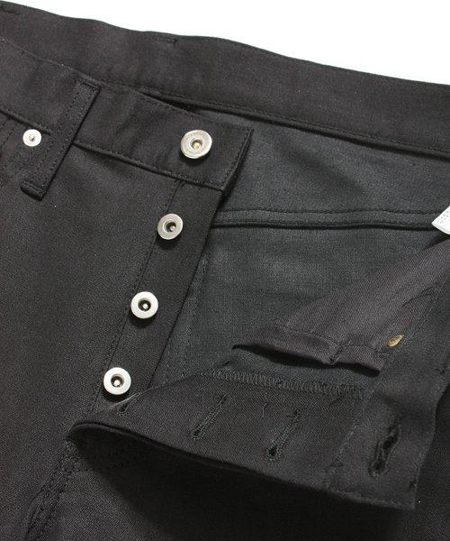 """RALEIGH / ラリー(RED MOTEL / レッドモーテル)  SIDEMILITIA× RALEIGH jeans """"激情のブラックスリム"""" DENIM PANTS(FLESH) 商品画像5"""