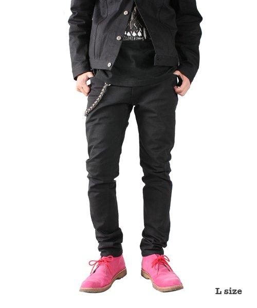 """RALEIGH / ラリー(RED MOTEL / レッドモーテル)  SIDEMILITIA× RALEIGH jeans """"激情のブラックスリム"""" DENIM PANTS(FLESH) 商品画像9"""