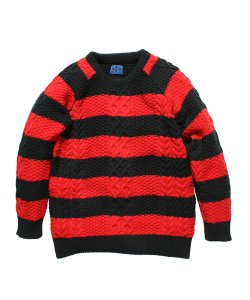 "RALEIGH(3色展開)<br>【 ""GUARDIAN ANGELS"" STRIPE SWEATER 】"