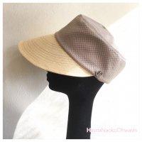 Silk paper visor シャンパンゴールド