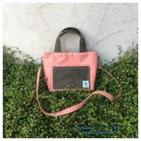 Pocket tote bag サーモンピンクブラックカーキ