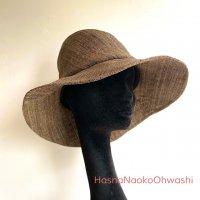 Asymmetry paper hat  ダークブラウン