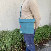 Yes!cycling  bag アクアブルーレッド