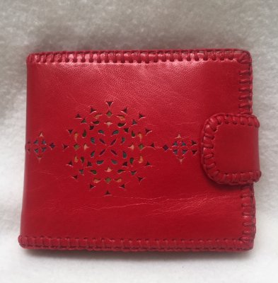 【入荷待ち】二つ折り財布 ピンク01