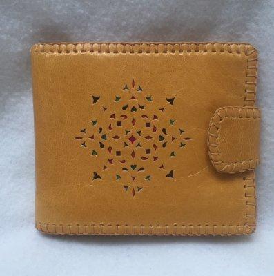 二つ折り財布 黄01