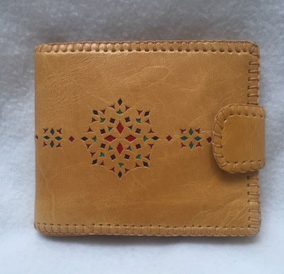 二つ折り財布 黄02