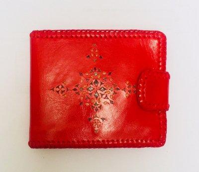 二つ折り財布 赤01