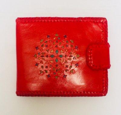 【入荷待ち】二つ折り財布 赤02